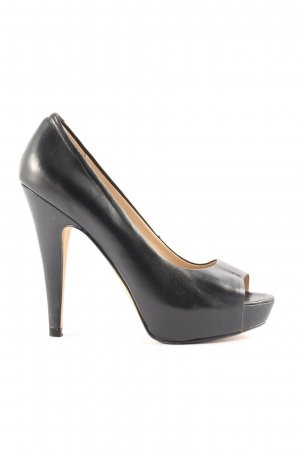 Mango Peeptoe Pumps schwarz Casual-Look