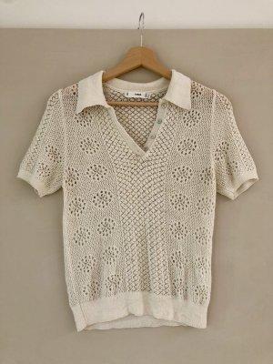 MANGO - perforiertes Poloshirt
