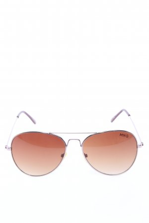 Mango Gafas de piloto marrón-rosa look casual