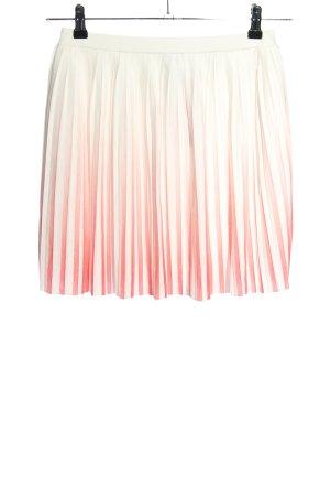 Mango Plisseerock wollweiß-pink Farbverlauf Casual-Look