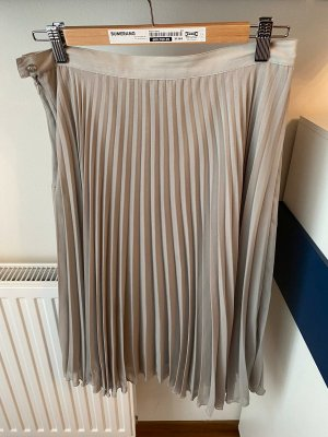 Mango Pleated Skirt light grey
