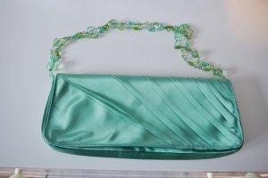 Mango Pochette Clutch Tasche mint grün mit Schmuckträgern NEU