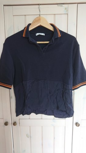 Mango Suit Polo Top orange-dark blue