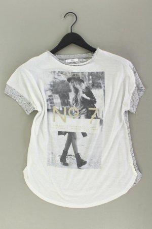 Mango Printshirt Größe S Kurzarm schwarz