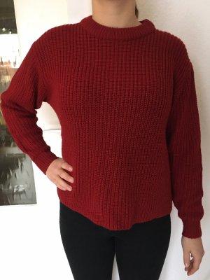 Mango Pulli Pullover Shirt Strick Rot XS 34