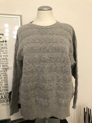 Mango Jersey de lana gris