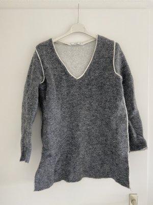 Mango Suit Fleece Jumper grey