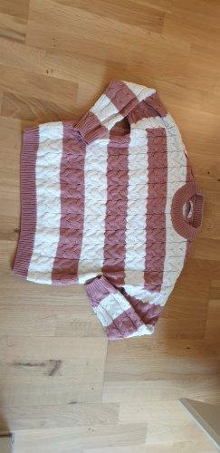 Mango Maglione lavorato a maglia bianco-rosa pallido