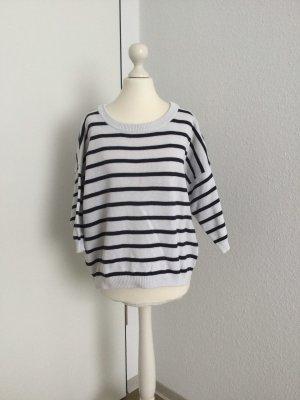 Mango Pullover weiß schwarz gestreift Gr. M / 40