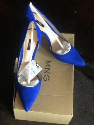 Mango Zapatos de punta azul