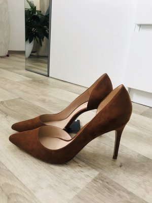 Mango Pointed Toe Pumps brown