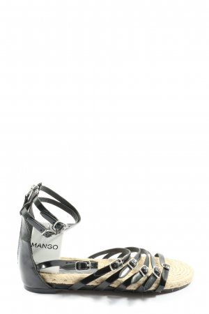 Mango Riemchen-Sandalen schwarz-silberfarben Casual-Look