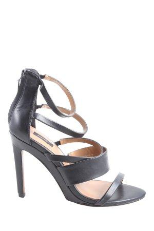 Mango Riemchen-Sandaletten schwarz Casual-Look