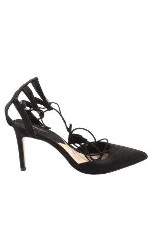 Mango Riemchen-Sandaletten schwarz extravaganter Stil