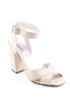 Mango Riemchen-Sandaletten hellbeige Casual-Look