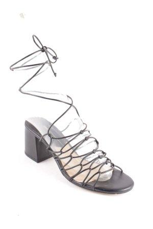 Mango Riemchen-Sandaletten schwarz Elegant