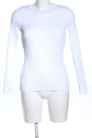 Mango Geribd shirt wit casual uitstraling