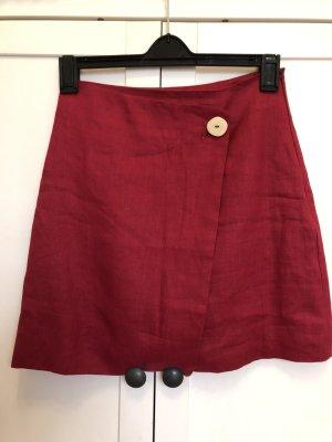 Mango Minigonna rosso chiaro-rosso lampone Lino