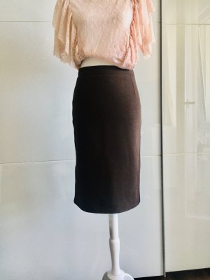 MNG Spódnica midi ciemnobrązowy-brązowy