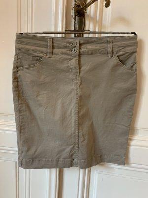 Mango Jeansowa spódnica khaki