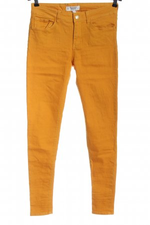 Mango Pantalon cigarette orange clair style décontracté