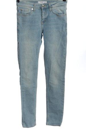 Mango Jeansy rurki niebieski W stylu casual