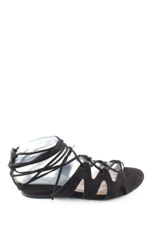 Mango Römer-Sandalen schwarz Casual-Look