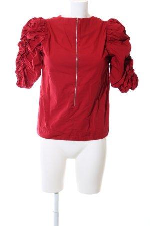 Mango Rüschen-Bluse rot Casual-Look