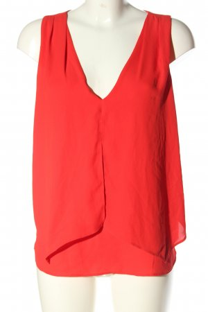 Mango Frill Top red casual look