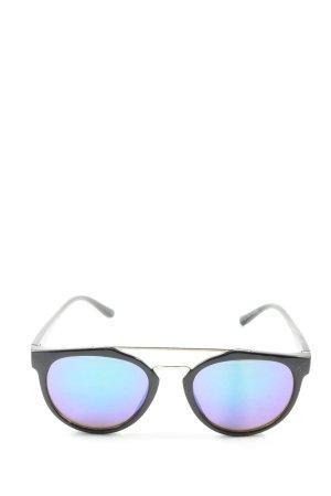 Mango runde Sonnenbrille schwarz Casual-Look