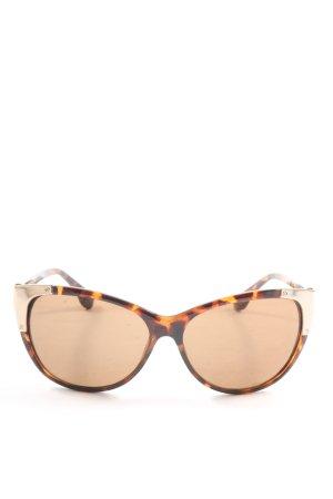 Mango runde Sonnenbrille braun-hellorange abstraktes Muster Casual-Look