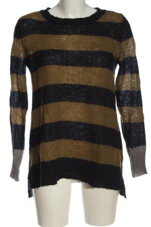 Mango Crewneck Sweater striped pattern casual look