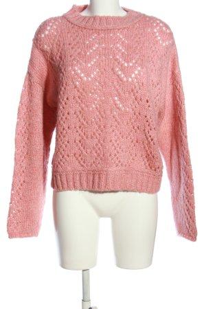 Mango Rundhalspullover pink Webmuster Casual-Look