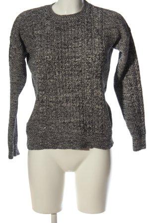 Mango Sweter z okrągłym dekoltem czarny-biały Melanżowy W stylu casual