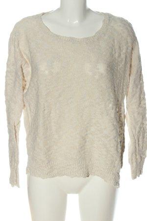 Mango Crewneck Sweater natural white casual look