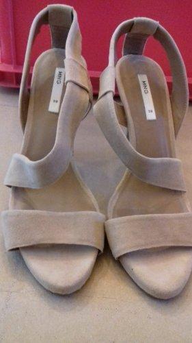 Mango sandaletten Echtleder greige Gr 39