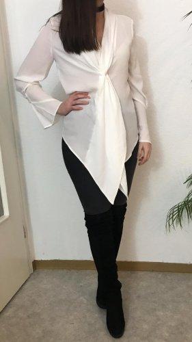 Mango schicke weiße Bluse mit Volant