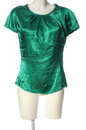 Mango Schlupf-Bluse grün Business-Look
