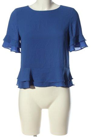 Mango Schlupf-Bluse blau meliert Casual-Look