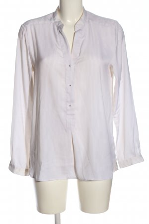 Mango Schlupf-Bluse weiß-pink Streifenmuster Business-Look