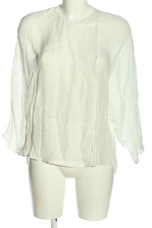 Mango Schlupf-Bluse weiß Streifenmuster Casual-Look