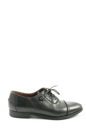 Mango Chaussures à lacets noir style décontracté