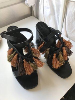 Mango Schuhe Blockabsatz schwarze Größe 38