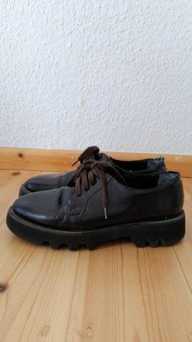 Mango Schuhe mit Schnur - Aubergine