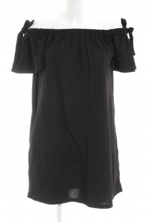 Mango schulterfreies Kleid schwarz Casual-Look