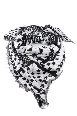 Mango Shoulder Scarf white-black allover print casual look