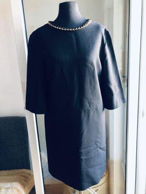 Mango schwarze A-Linien Kleid
