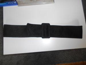Mango Cinturón de tela negro Poliéster