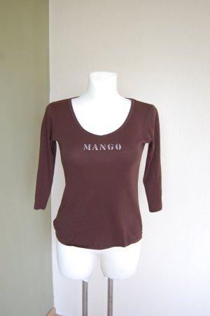 Mango Shirt, Baumwolle, Gr M, Braun