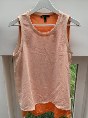 Mango Shirt Bluse Top orange beige